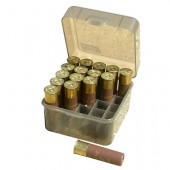 "Коробка MTM Dual Gauge Shotshell Case 3.5"" на 25 патронов кал. 12/89. Цвет – дымчатый"